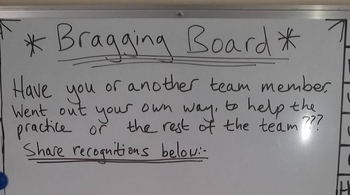 bragging board